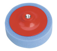 Sealey PTC/CH/M14-B Buffing & Polishing Foam Head ¯150 x 50mm M14 x 2mm Blue/Medium