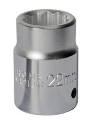 "Sealey S34/22 WallDrive¨ Socket 22mm 3/4""Sq Drive"