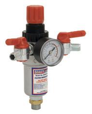 "Sealey SA4FR/38 Air Filter/Regulator 3/8""BSP Male - 1/4""BSP Male"