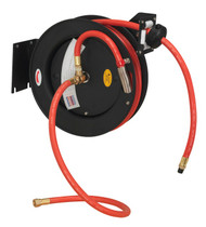 Sealey SA84 Retractable Air Hose Steel Reel 8mtr ¯10mm ID Rubber Hose