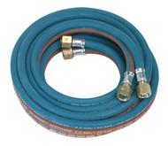 Sealey SGA5 Twin Rubber Hose Set Oxyacetylene 4.5mtr