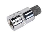 """Sealey SX107 Security Spline Socket Bit M16 1/2""""Sq Drive"""