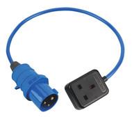Sealey TR05/1.5/230 Trailing Socket & Cable Set 16Amp/13Amp