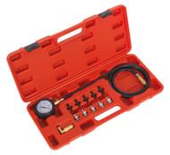 Sealey VSE203 Oil Pressure Test Kit 12pc