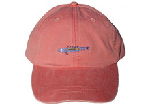 Coral Fish Embroidered Baseball Cap on Coral