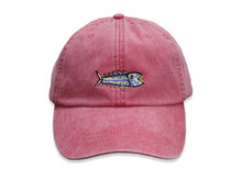 Hopkins Fish Embroidered Baseball Cap on Poppy