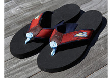 Eric Hopkins Fish Flip Flops (Red)