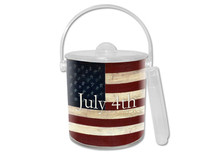 American Flag Lucite Ice Bucket
