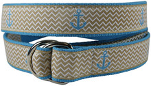 Anchor Ribbon Belt Ladies Tan