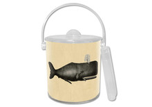 Antique Charcoal Whale Lucite Ice Bucket