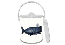Antique Blue Whale Lucite Ice Bucket