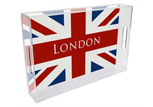 Union Jack Lucite Tray