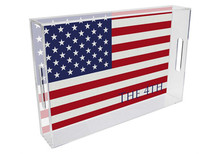 American Flag Lucite Tray (#2)