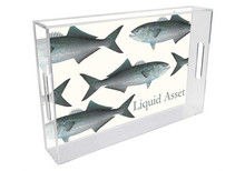 Blue Fish Personalized Lucite Tray