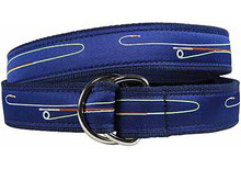Fly Rod Ribbon Belt (D-Ring)