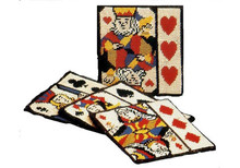 Playing Card Needlepoint Coasters