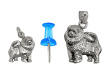 Sterling Silver Chow Chow Charm - Mini