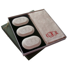 Carved Solutions Monogrammed Soap Gift Set