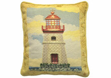 Lighthouse Needlepoint Pillow II