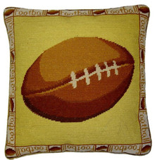 Football Needlepoint Pillow