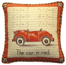Car Needlepoint Pillow