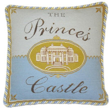 Prince's Castle Needlepoint Pillow