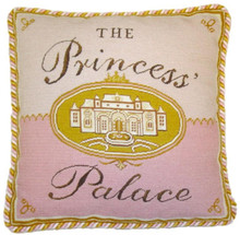 The Princess' Palace Needlepoint Pillow