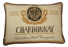 Chardonnay Needlepoint Pillow