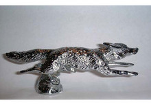 Fox Running Hood Ornament (Small)