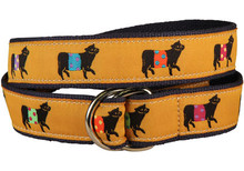 Belted Cow Ribbon Belt on Mustard (D-Ring)