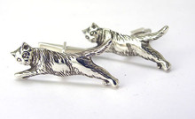 Cat Cufflinks - Flying Cats