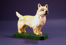 Cairn Terrier Hood Ornament (Enamel Finish)