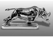 Rhinoceros Charging Hood Ornament