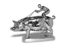 Pig with Jockey Hood Ornament