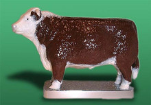 Hereford Bull Hood Ornament (Enamel Finish)