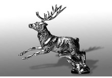 Stag Running Hood Ornament