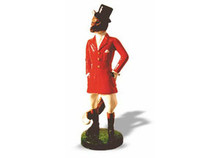 Gentleman Fox Hood Ornament (small, enamelled)