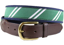 rep stripe tab belt green & white