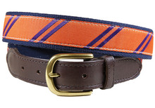 rep stripe tab ribbon belt orange and purple