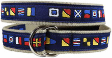 nautical flag ribbon belt