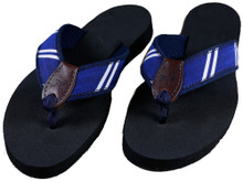 Blue Rep Stripe Flip Flops