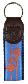 Lacrosse Key Fob Orange on Blue