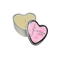 Crazy Girl Wanna Be Wild Soy Massage Heart Candle Cupcake 4.7oz