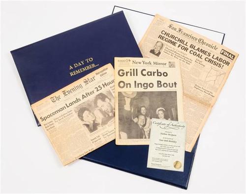 Home Personalized Original Wedding Day Newspaper Presentation Pack