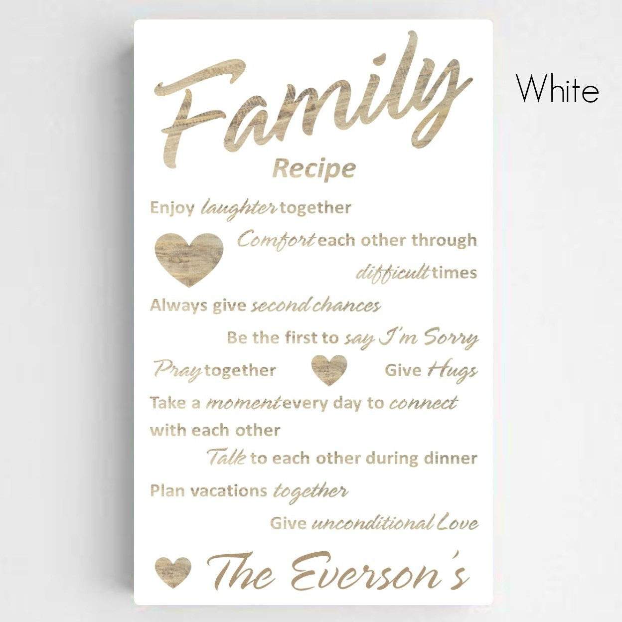 Unique Wedding Anniversary Gifts Australia : Home Personalized Personalized Family Recipe Canvas