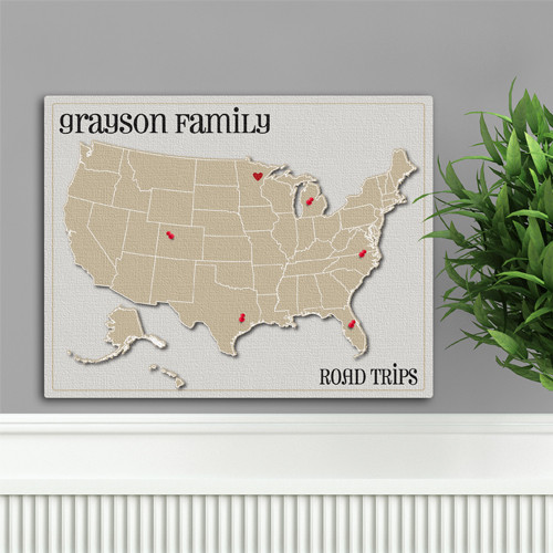 Personalized Anniversary Travel Map