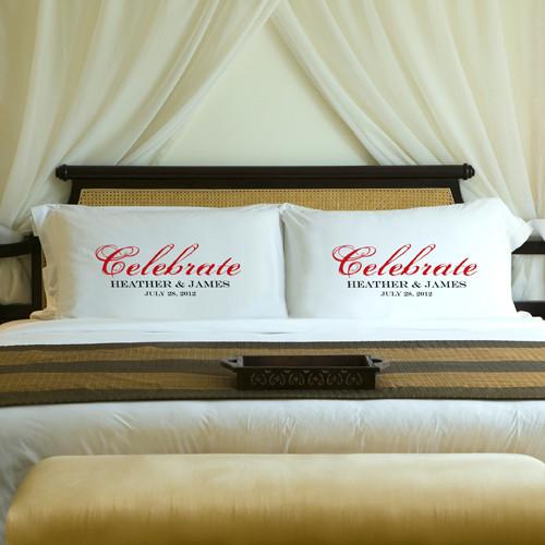 Anniversary Celebration pillow cases