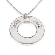 Circle of Life Couples Personalized Necklace