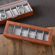 Brown Leather Anniversary Watch Box
