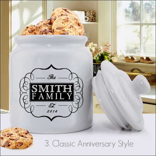 Classic Personalized Anniversary Cookie Jar